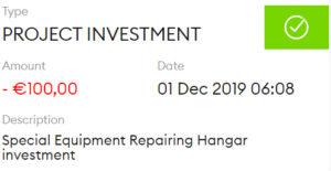 Prima investitie in Monethera